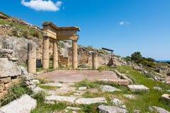 Archeologisch gebied van Solunto, dichtbij Palermo, in Sicili? royalty-vrije stock afbeelding