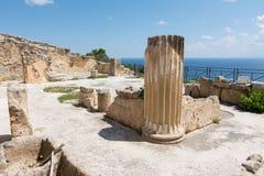 Archeologisch gebied van Solunto, dichtbij Palermo, in Sicili? stock afbeelding