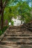 Archeologisch landschap van Ek Balam, in het schiereiland van Yucatan stock foto's