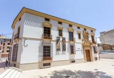 Archeologisch museum in Lorca, Spanje stock afbeeldingen
