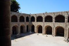 Archeologisch museum in Rhodos, Griekenland stock fotografie