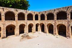 Archeologisch museum van Rhodos, Griekenland royalty-vrije stock afbeelding