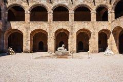 Archeologisch museum van Rhodos, Griekenland stock afbeeldingen