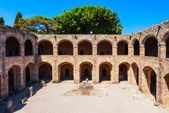 Archeologisch museum van Rhodos, Griekenland royalty-vrije stock fotografie