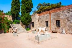 Archeologisch museum van Rhodos, Griekenland royalty-vrije stock foto's
