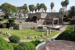 Archeologisch Park in Tiberias stock afbeeldingen