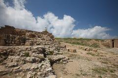 Archeologisch Park van Cyprus De ruïnes van het amfitheater royalty-vrije stock fotografie