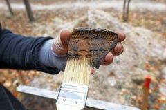 Archeologische bevindingen tijdens de gebiedsexpeditie royalty-vrije stock afbeelding