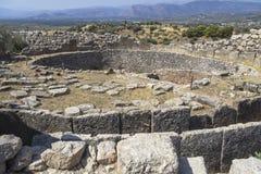 Archeologische plaats Mycenae in Griekenland stock afbeelding