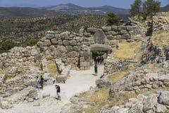 Archeologische plaats Mycenae in Griekenland royalty-vrije stock afbeelding