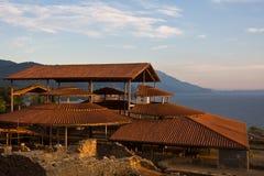 Archeologische Plaats in Ohrid Royalty-vrije Stock Afbeeldingen