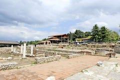 Archeologische plaats rond onlangs gebouwde St Clements Church Stock Foto's