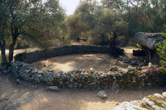 Archeologische Plaats in Sardinige. stock afbeeldingen