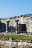 Archeologische plaats in Tulum stock fotografie