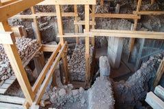 Archeologische plaats van Gobekli Tepe Stock Afbeeldingen