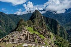 Archeologische plaats van Machu Picchu, Peru Royalty-vrije Stock Afbeeldingen