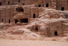 Archeologische plaats van Petra, Jordanië Stock Fotografie