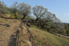 Archeologische plaats van Wat Phu dichtbij Champasak stock foto's