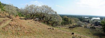 Archeologische plaats van Wat Phu dichtbij Champasak stock foto