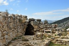 Archeologische plaatsen van Mycenae en Tiryns, Griekenland royalty-vrije stock afbeeldingen