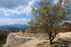 Archeologische plaatsen van Mycenae en Tiryns, Griekenland stock afbeeldingen