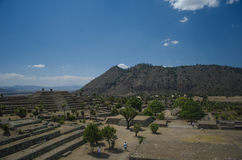 Archeologische ruïnes in Mexico Stock Foto