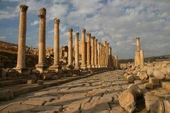 Archeologische Uitgraving in Jerash (Jordanië) Stock Afbeeldingen