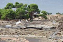Archeologische uitgravingen royalty-vrije stock afbeelding