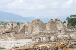 Archeologische uitgravingen stock foto
