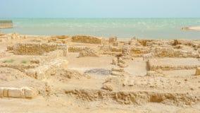 Archeologische uitgravingen, Qal 'in al-Bahrein stock foto's