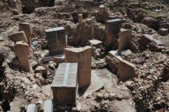 Archeologische uitgravingen van de wereld` s oudste tempel Göbekli Tepe royalty-vrije stock afbeelding