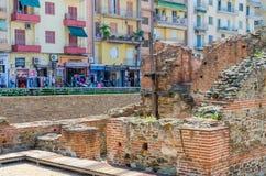 Archeologische uitgravingen van paleis van Roman Emperor Galerius, Thessaloniki, Griekenland royalty-vrije stock foto