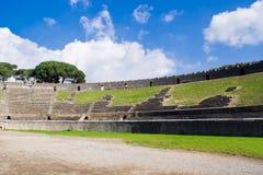 Archeologische uitgravingen van Pompei, Italië Stock Foto's