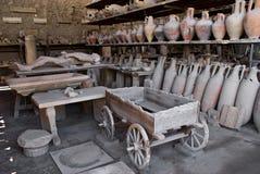 Archeologische uitgravingen van Pompei, Italië Stock Foto