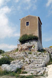 Archeology. Archimedes's tomb in the archeological park of Syracuse, Sicily Stock Photos