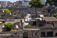 Archeology area of Ercolano. Ercolano unesco world heritage site Stock Photography