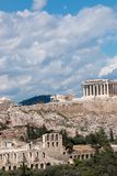 Athens capital of greece. Archeology athens capital of greece doric temples europe Stock Images