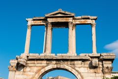Athens capital of greece. Archeology athens capital of greece doric temples europe Royalty Free Stock Photo