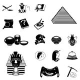 Archeology black icons Stock Photo
