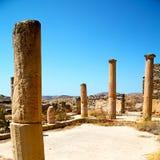 Archeology  in delos greece the historycal acropolis and old rui Stock Photos