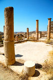 Archeology  in delos greece  site. In delos   greece    the historycal acropolis and         old ruin site Royalty Free Stock Image