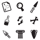Archeology Icons. This image is a vector illustration and can be scaled to any size without loss of resolution Royalty Free Stock Photo