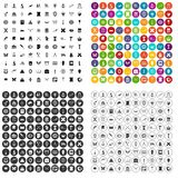 100 archeology icons set vector variant. 100 archeology icons set vector in 4 variant for any web design isolated on white Royalty Free Stock Images