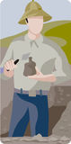 Archeology illustration series Royalty Free Stock Photo