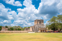 Archeology and nature of the Yukatan peninsula. Chichen Itza , Mexico - April 18, 2016: Archaeological site, the Observatory El Observatorio Stock Photography