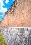 Archeology and nature of the Yukatan peninsula. Chichen Itza , Mexico, archaeological site, the ancient Ball Game wall & x28;Juego de Pelota& x29 Stock Image