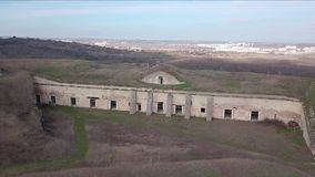 Archeology, the old Kerch fortress. Ancient buildings and castles. Archeology, the old Kerch fortress. Ancient buildings and castles stock video footage