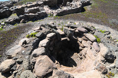 Archeology Site in Canary Islands Stock Images
