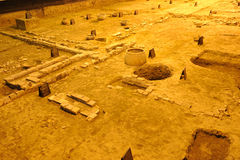 Archeology site of Tang Dynasty in Chengdu Stock Photo