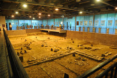 Archeology site of Tang Dynasty in Chengdu Royalty Free Stock Photography